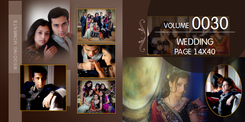 Wedding Templates Size 14 x 40, Wedding Page Templates for Wedding on